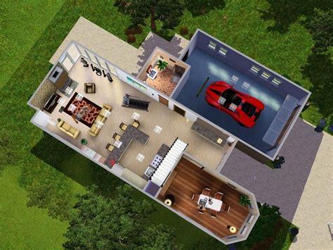3 Car Garage With Loft mod the sims modern loft