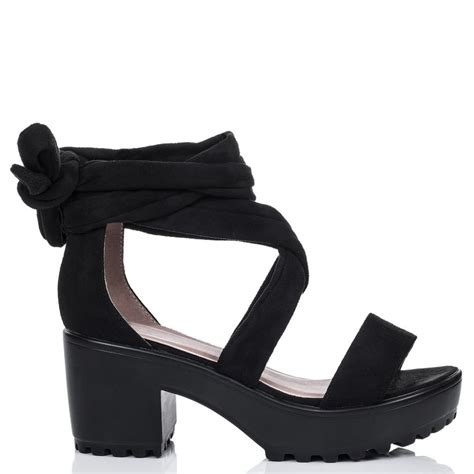 black block high heel shoes impossible black sandals shoes from spylovebuy
