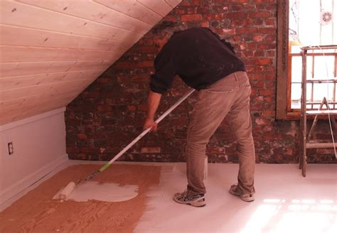 How To Paint Plywood Floors by Painted Plywood Floors Bob Vila