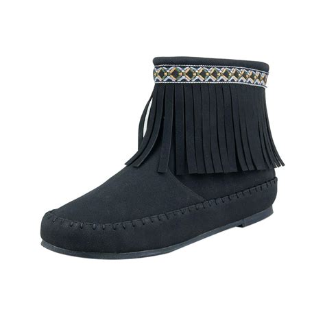indian boots for western indian style s fringe ankle boots w zipper