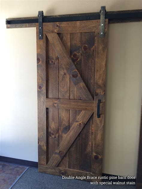 The Barn Door Single Barn Doors Hardware Rustic Modern Handcrafted Furniture