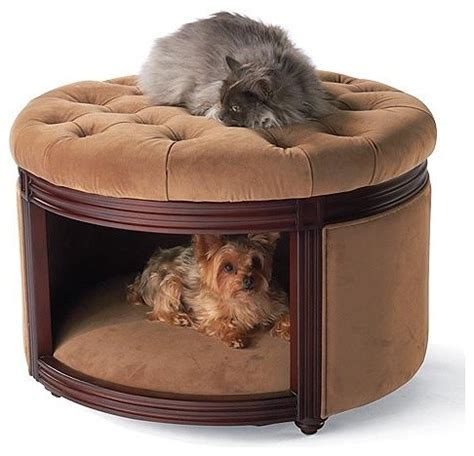 dog ottoman bed pet ottoman den dog bed traditional pet supplies by