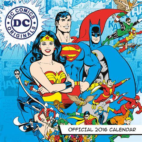 Calendar 2018 Comics Dc Comics Calendars 2018 On Europosters