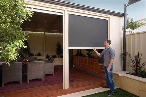 Motorised Awnings Ziptrack Blinds Melbourne Shadewell Awnings Amp Blinds