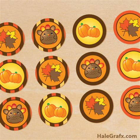 printable thanksgiving stickers free printable thanksgiving cupcake toppers