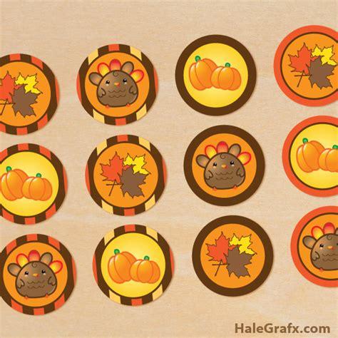 printable turkey stickers free printable thanksgiving cupcake toppers