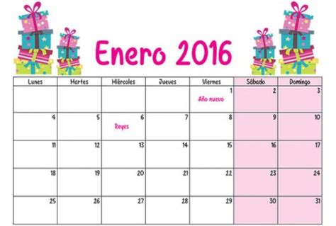 Calendario Enero 2016 Calendario 2016 Mes A Mes Calendario Puro Pelo