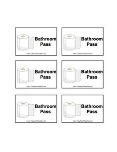 bathroom passes high school school stuff on pinterest common cores bathroom pass and middle school classroom
