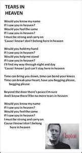 will you be there testo best 25 tears in heaven ideas on eric clapton