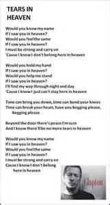 testo heaven best 25 tears in heaven ideas on eric clapton