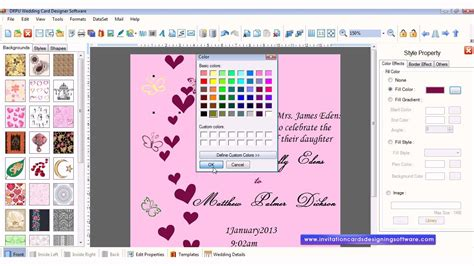 free card program free wedding card designer software how to design wedding