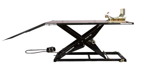how to a motorcycle lift table elevator 1800 motorcycle lift table basic nhproequip com