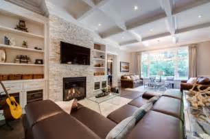 custom build home traditional family room toronto