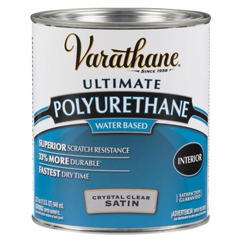 Clear Paint Pu X2 Clear varathane 1 qt clear satin water based interior polyurethane 2 pack 200241h the home depot