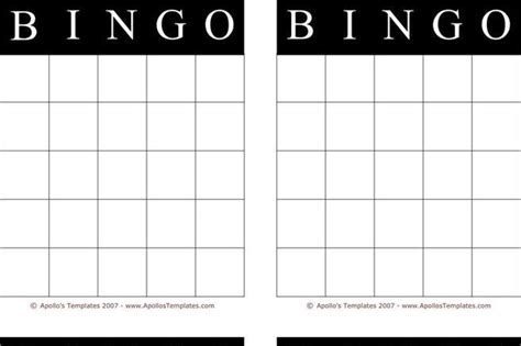bingo card template ms word template free premium templates forms