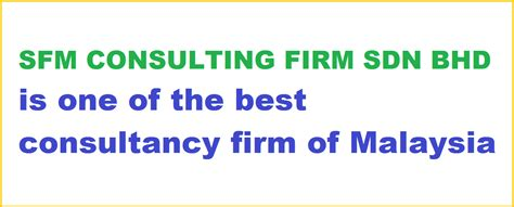 service in registration sfm consulting firm sdn bhd company registration malaysia