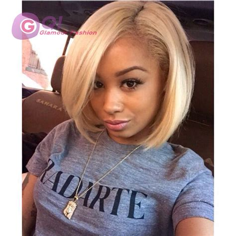 pictures of platinum blonde bobs on black women gq 7a blonde bob lace wig 613 platinum blonde wig human