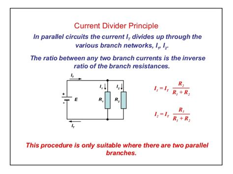 parallel resistor current division elect principles 2 current divider