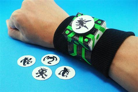 How To Make A Paper Ben 10 - how to make a ben 10 omnitrix 9 steps with pictures