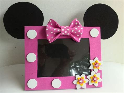 como hacer un porta retrato de minnie mouse portarretrato de minnie de foami imagui