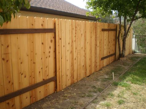 Wood Fence Backyard Backyard Wood Fence Large And Beautiful Photos Photo To