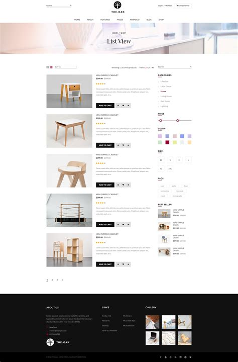 wordpress theme listview wordpress woocommerce theme for furniture decoration