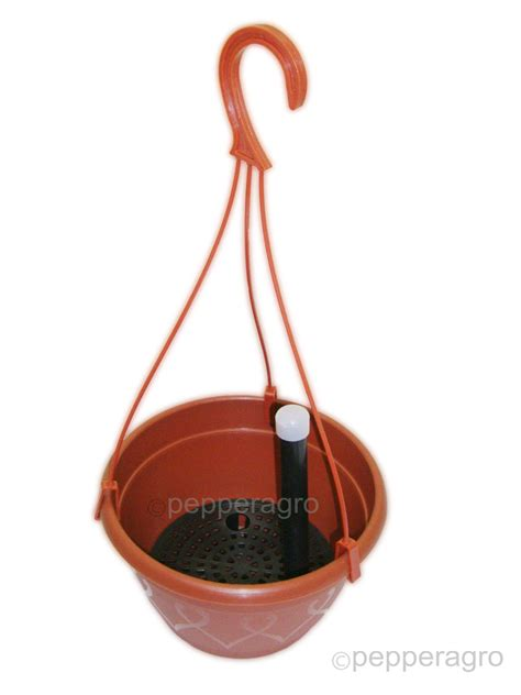 self watering pot hanging planter with potting soil set of two