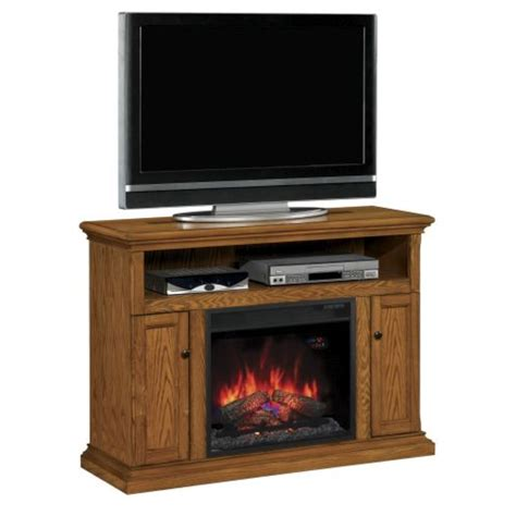 cannes tv stand with 23 electric fireplace antique oak