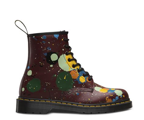 angelus paint dr martens 1460 paint splatter s boots shoes official dr