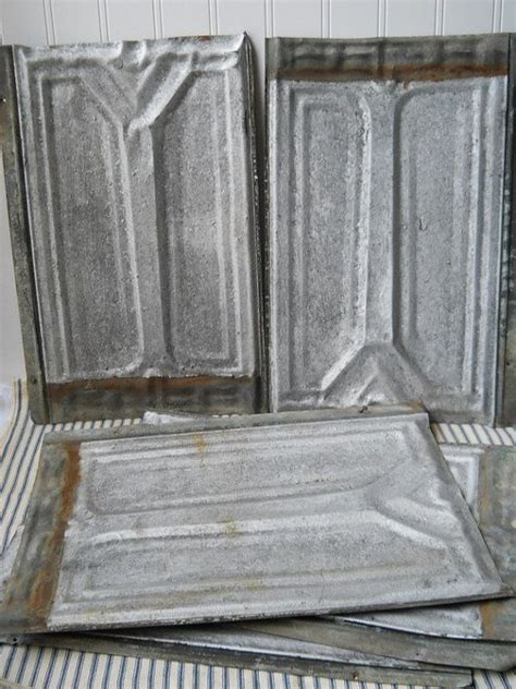 antique tin shingles vintage ceiling roof tins tiles