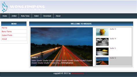 buat web sederhana gratis source code php dan mysql web sederhana tutorial php dan