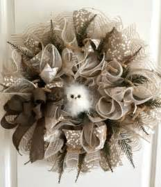 how to make a deco mesh wreath using two colors how to make burlap and mesh wreaths home look at and