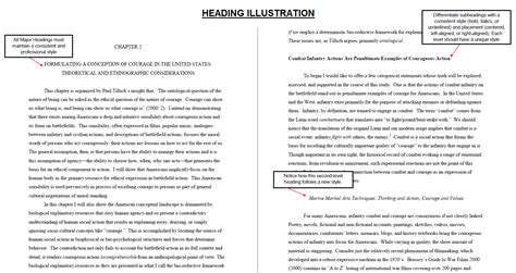 dissertation subheadings minimum formatting requirements graduate college of the