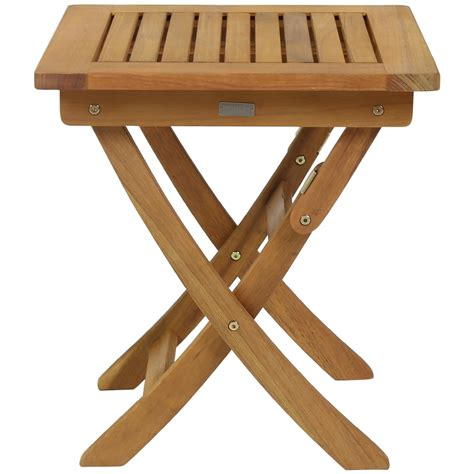 Small Wooden Patio Table Small Foldable Wooden Garden Side Table Buydirect4u