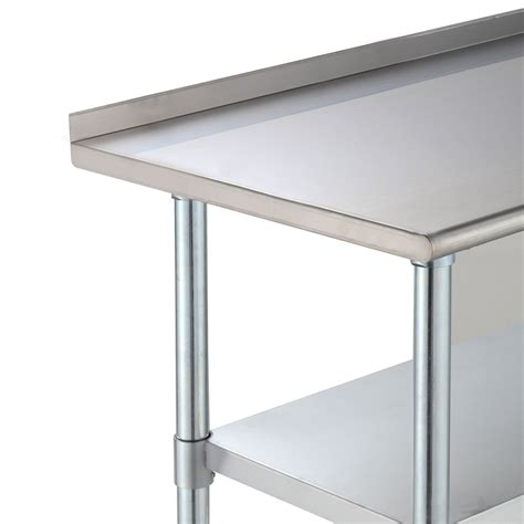 Kitchen Work Table With Shelves Stainless Steel Work Prep Table Kitchen Restaurant Storage Shelf 24 Quot X 48 Quot Ebay