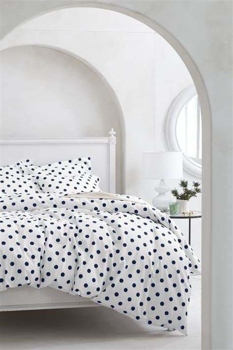 navy polka dot comforter 30 printed bedding sets to refresh your bedroom digsdigs