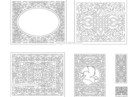 pattern along line solidworks decorative pattern 4 dwg free cad blocks download