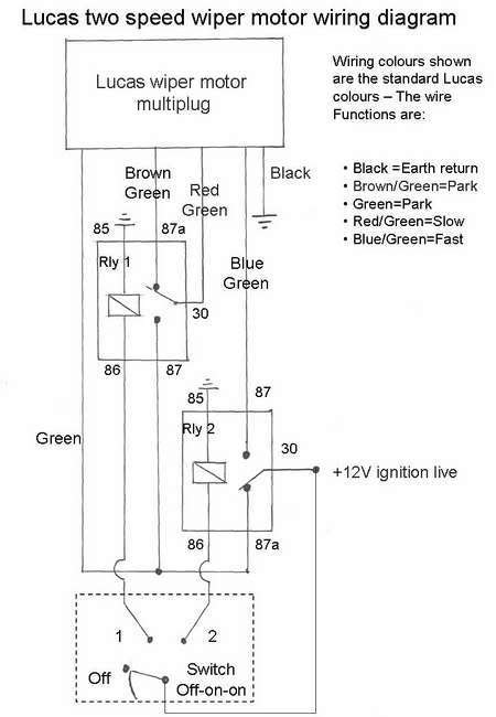 lucas dr3 wiper motor wiring diagram fuse box and wiring