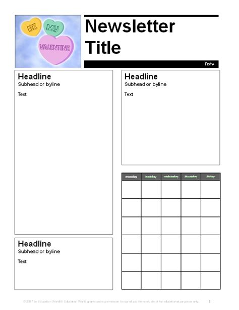 february newsletter template 1000 ideas about newsletter templates on pinterest html newsletter templates preschool