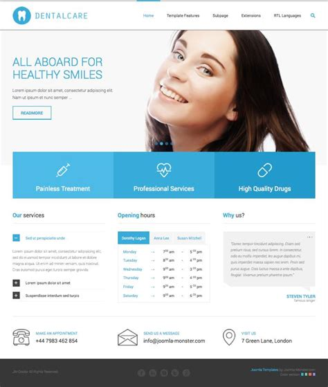 template joomla medical jm doctor joomla template for medical clinics dental care