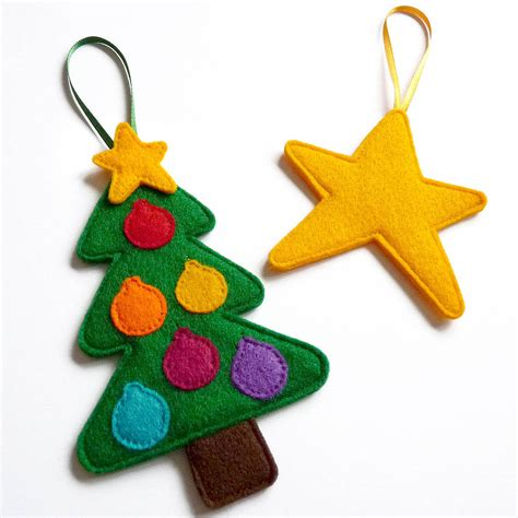 original felt ornaments for your christmas tree home