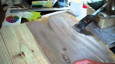 Holz Lackieren Auf Alt by How To Make New Wood Look Paint Wash Method 1