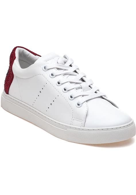 lola sneakers lyst lola 238z10bk white lace up sneakers in white