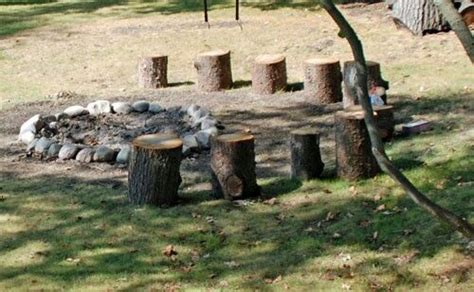 tree stump seats tree stump seats bonfire trees and