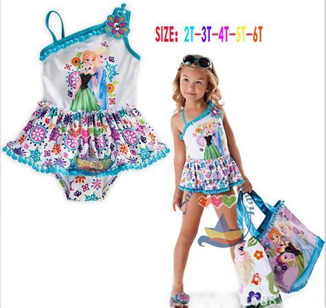 Baju Renang Swan Import jual frozen one shoulder swimwear baju renang anak import branded elsa bayi doyan belanja