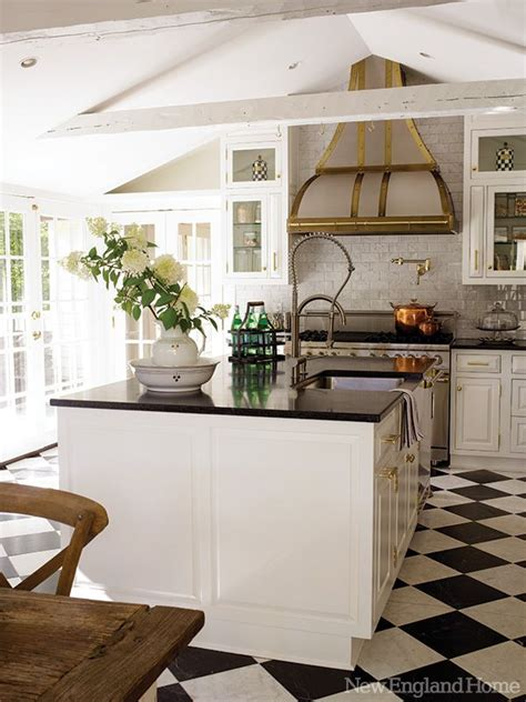 french bistro kitchen room design with checkerboard floors kitchens 11 54 the inspired room