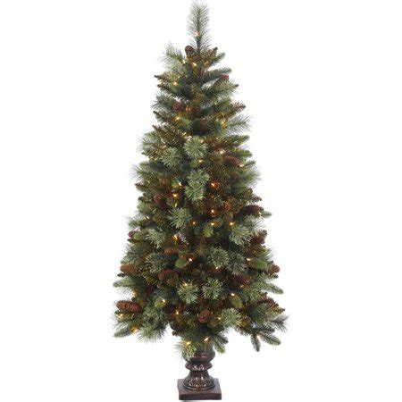 walmart christmas trees potted vickerman 5 potted reno mixed pine artificial tree with 150 clear lights walmart