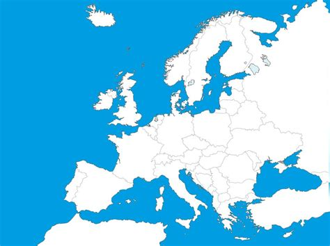 vector europe map europe map clipart