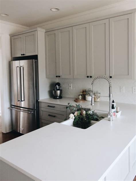 The 25 Best Gray Quartz Countertops Ideas On Pinterest Light Grey Shaker Kitchen