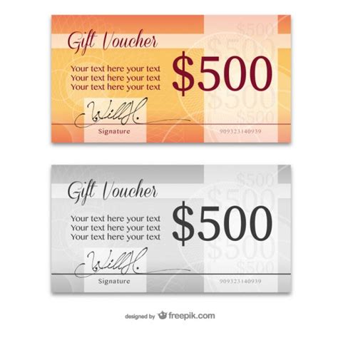 elegant gift card templates vector free download